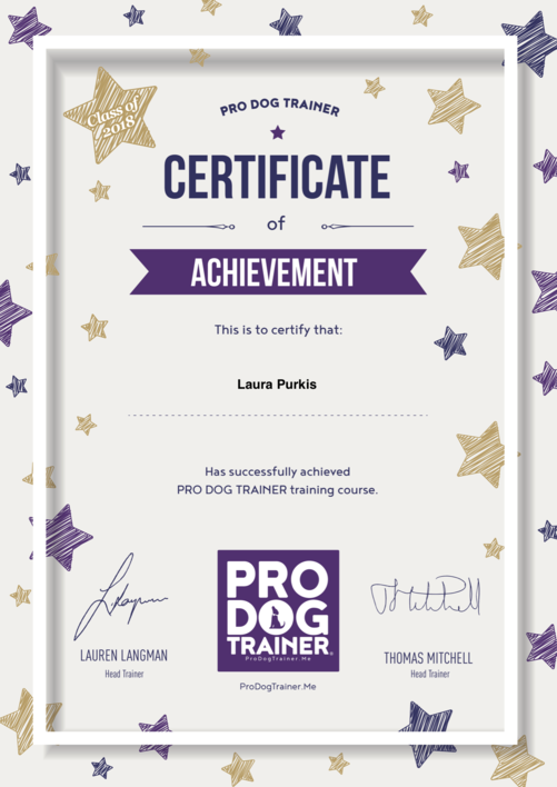 Pro Dog Trainer Certificate